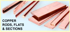 Copper Rods, Flats & Sections